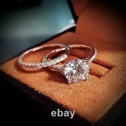 1.25 Ct Round Cut Diamond Prong Engagement Ring Set F, SI1 GIA Certified Center