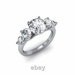 1.40 Ct. Natural Round Cut 5-Stone Diamond Engagement Ring GIA Certified