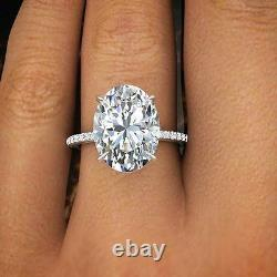 1.50 Ct Natural Oval Cut Pave Diamond Engagement Ring GIA Certified