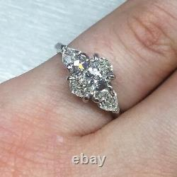 1.69 Carat I Vs2 Gia Certified Oval Cut Diamond Engagement Ring Set In Plat 950