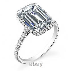 1.70ct Natural Emerald Halo Pave Diamond Engagement Ring GIA Certified