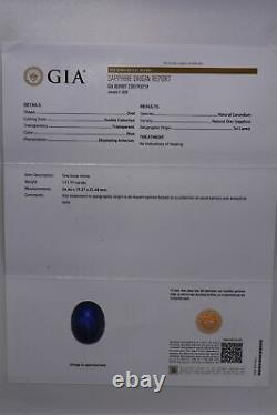 $550,000 115.87ct Gia Certified Huge Natural Blue Star Sapphire & Diamond Ring
