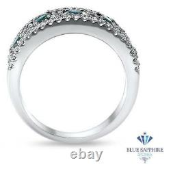 Certified GIA 1.41cttw Natural Alexandrite Ring with Diamonds in 18K White Gold