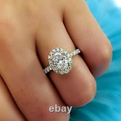 Charming 1.10 Ct. Halo Oval Cut Diamond Engagement Ring G, VS2 GIA Certified