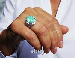 Emerald Gold Ring Diamond 14K Natural Colombia 9.49CT GIA Certified RETAIL$33900