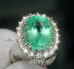 Emerald Ring Gold Diamond Colombian Natural 8.71CTW GIA Certified RETAIL $28700