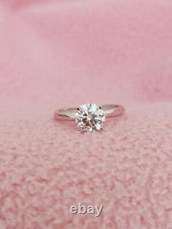 GIA Certified 1.05CT Natural Round Diamond Classy G/VVS1 Engagement 14k Ring
