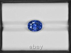 GIA Certified KASHMIR Blue Sapphire 5.23 Cts Natural Untreated Lively Royal Blue