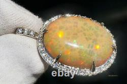 Opal Pendant Necklace Diamond Gold Natural Real 14K GIA Certified RETAIL $16 800